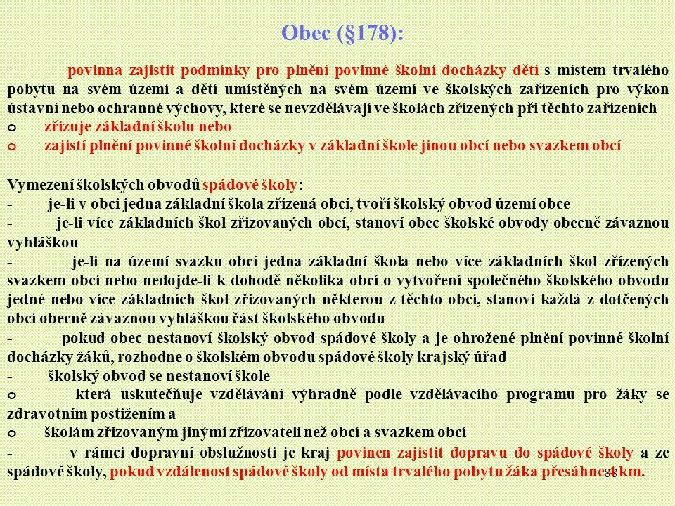 Obec (§178):