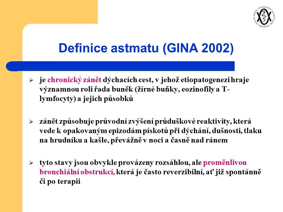 Definice astmatu (GINA 2002)