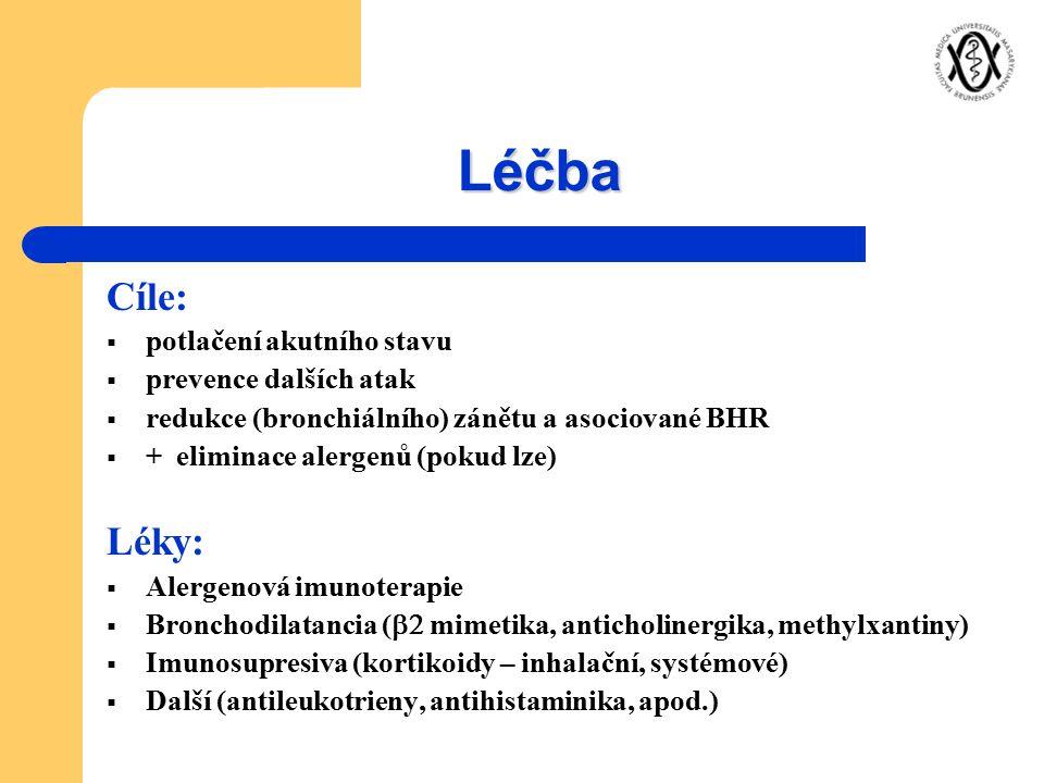 Léčba Cíle: Léky: potlačení akutního stavu prevence dalších atak