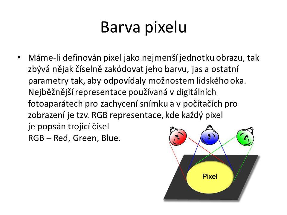 Barva pixelu
