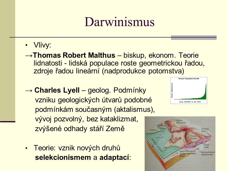 Darwinismus Vlivy: