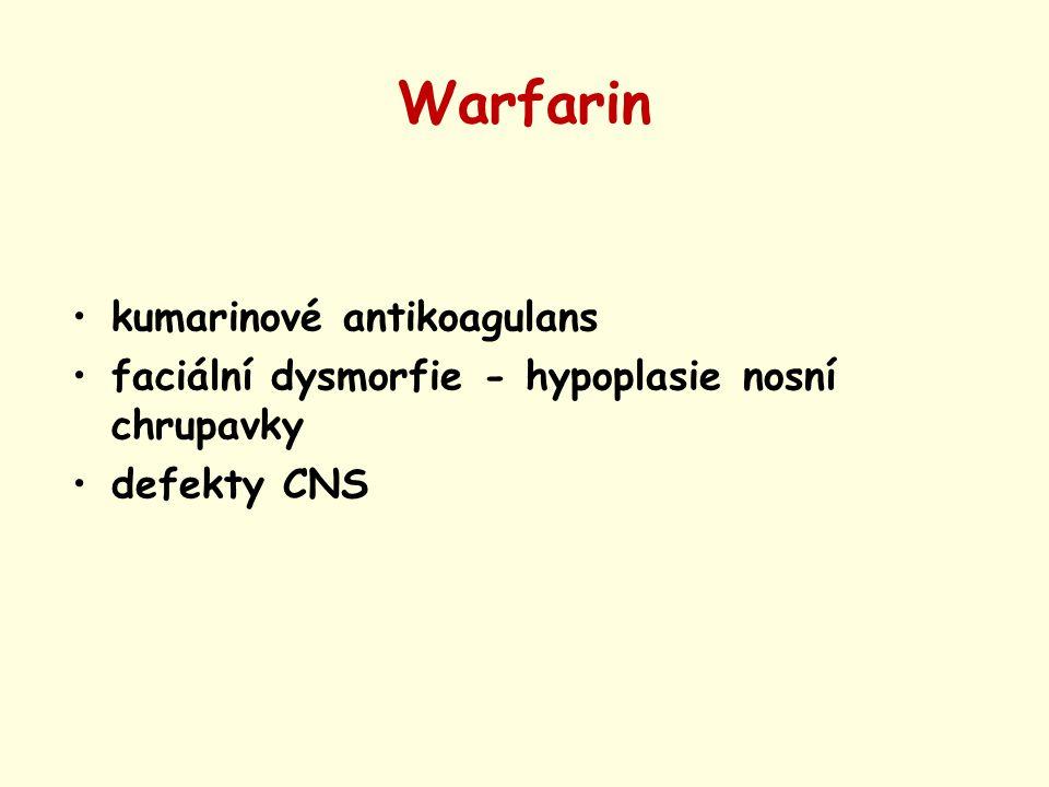Warfarin kumarinové antikoagulans