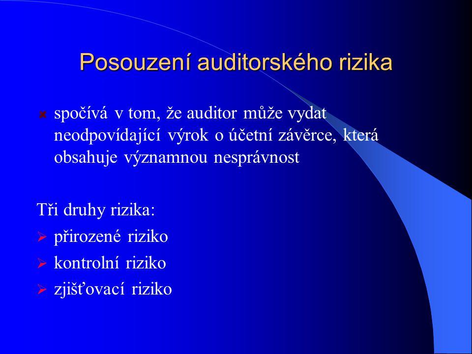 Posouzení auditorského rizika