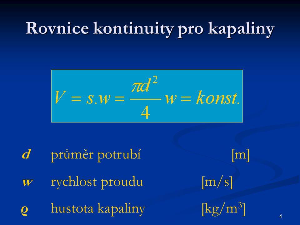 Rovnice kontinuity pro kapaliny