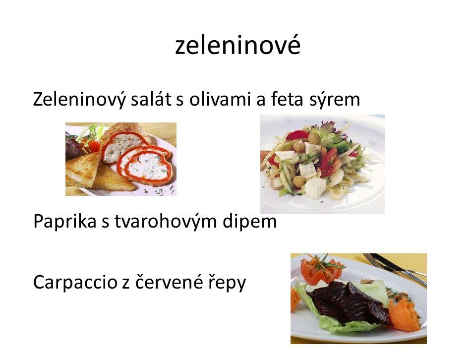 zeleninové Zeleninový salát s olivami a feta sýrem