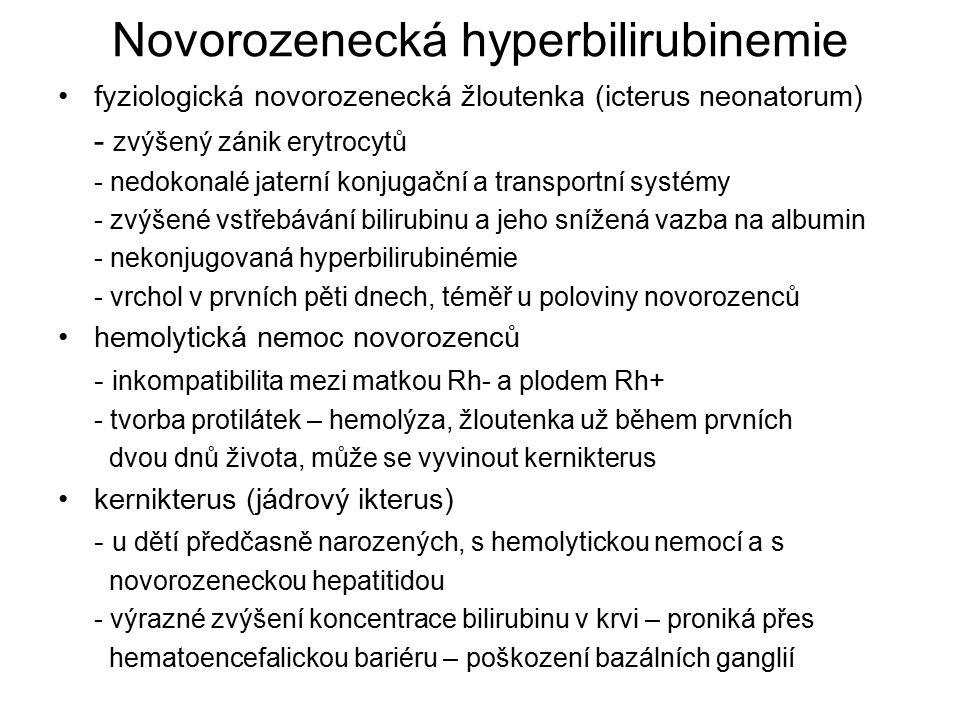 Novorozenecká hyperbilirubinemie