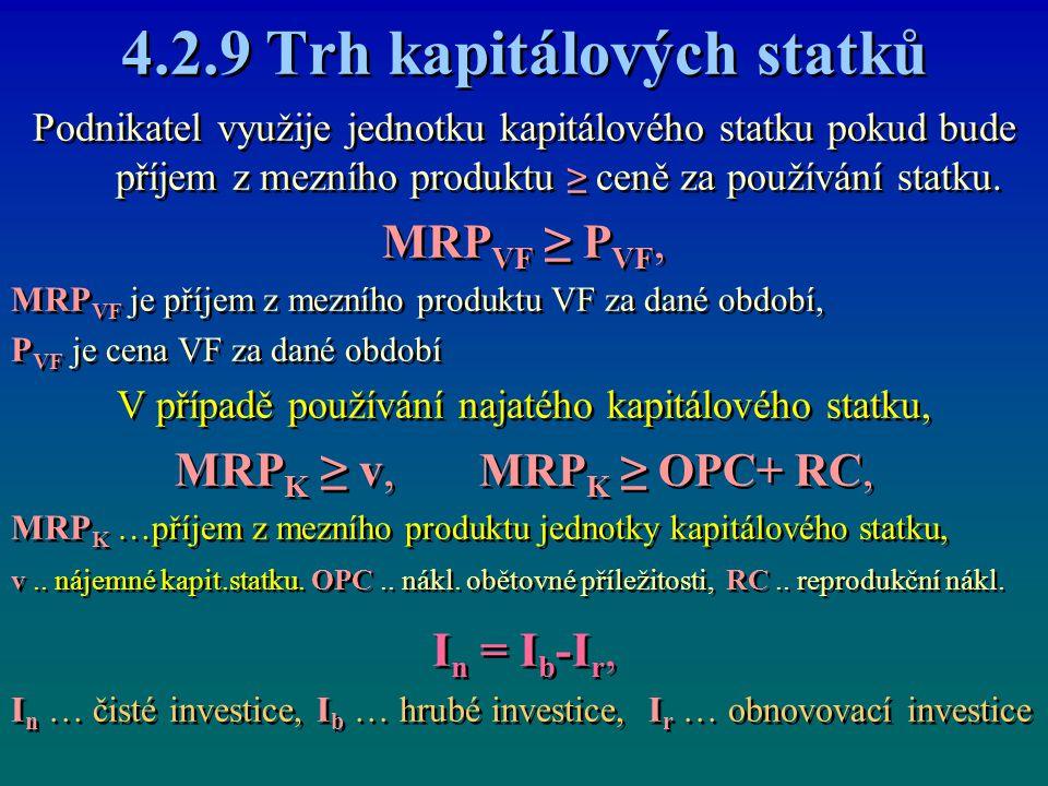 4.2.9 Trh kapitálových statků