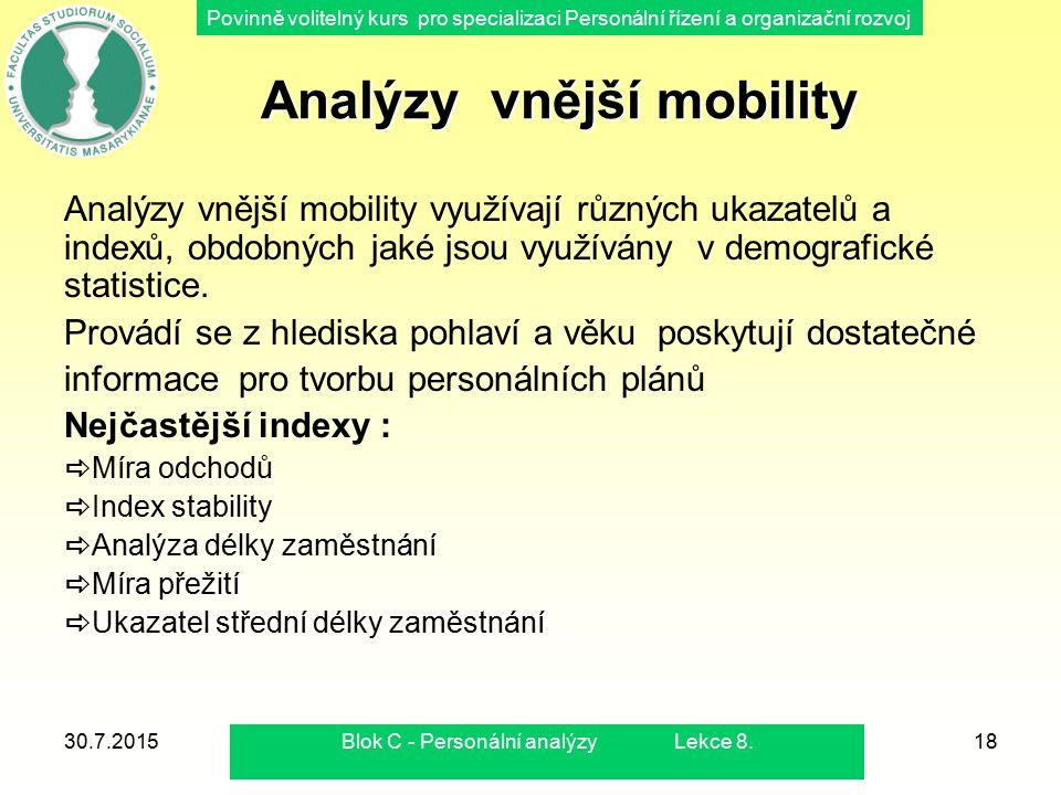 Analýzy vnější mobility