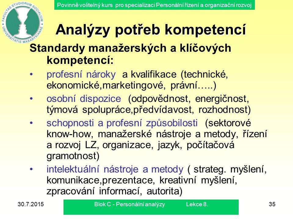 Analýzy potřeb kompetencí