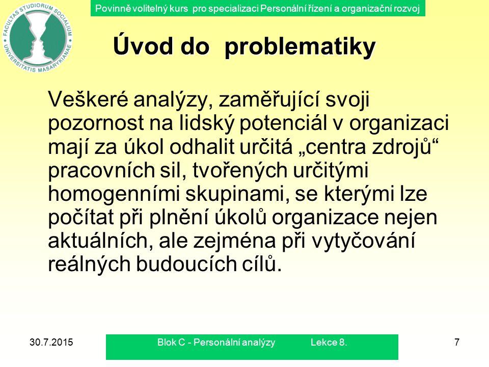 Blok C - Personální analýzy Lekce 8.