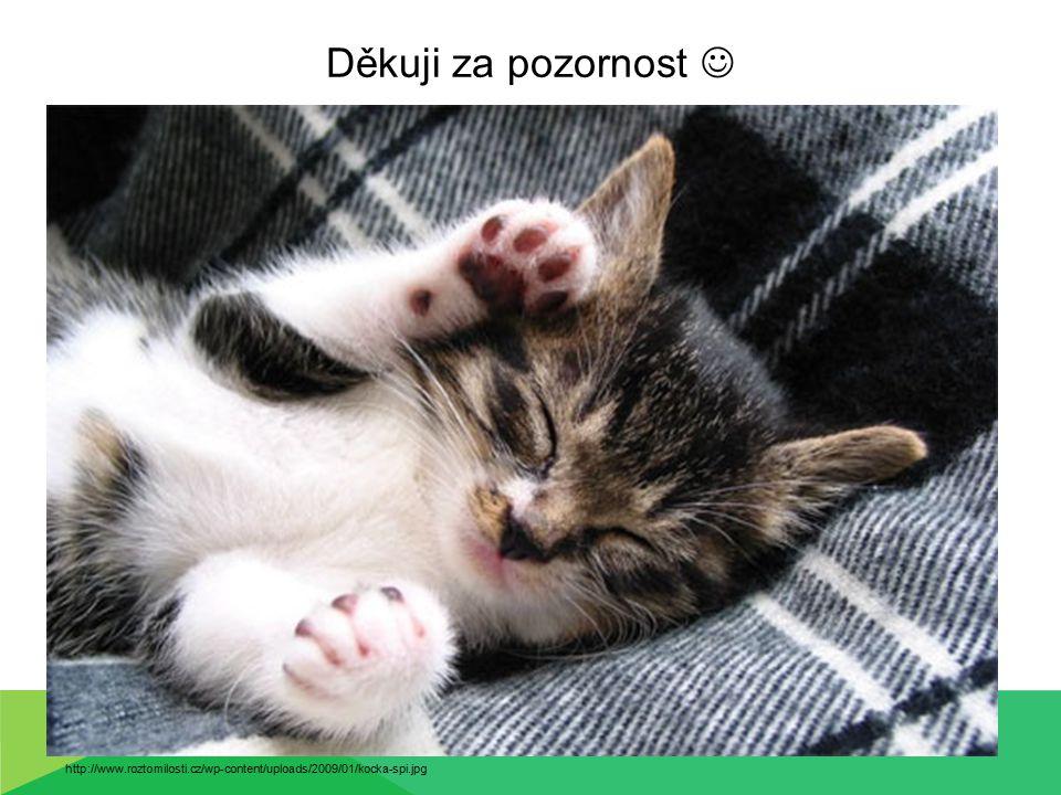 Děkuji za pozornost  http://www.roztomilosti.cz/wp-content/uploads/2009/01/kocka-spi.jpg