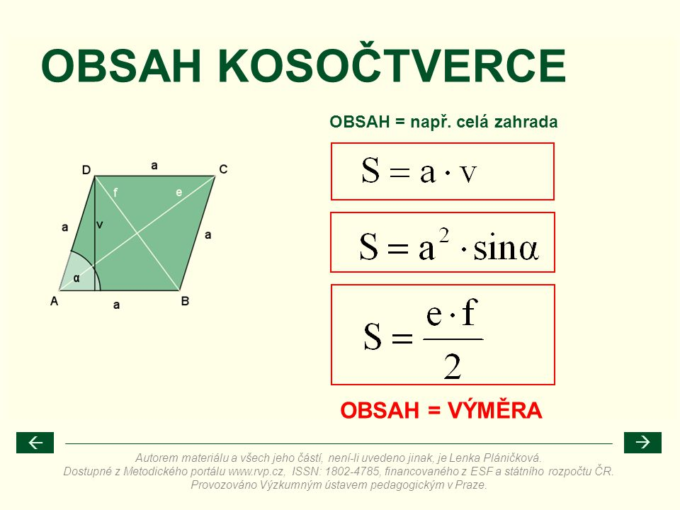 OBSAH = např. celá zahrada
