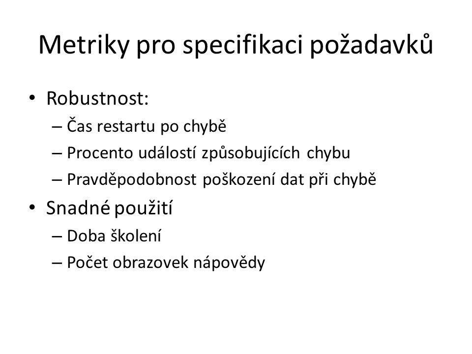Metriky pro specifikaci požadavků