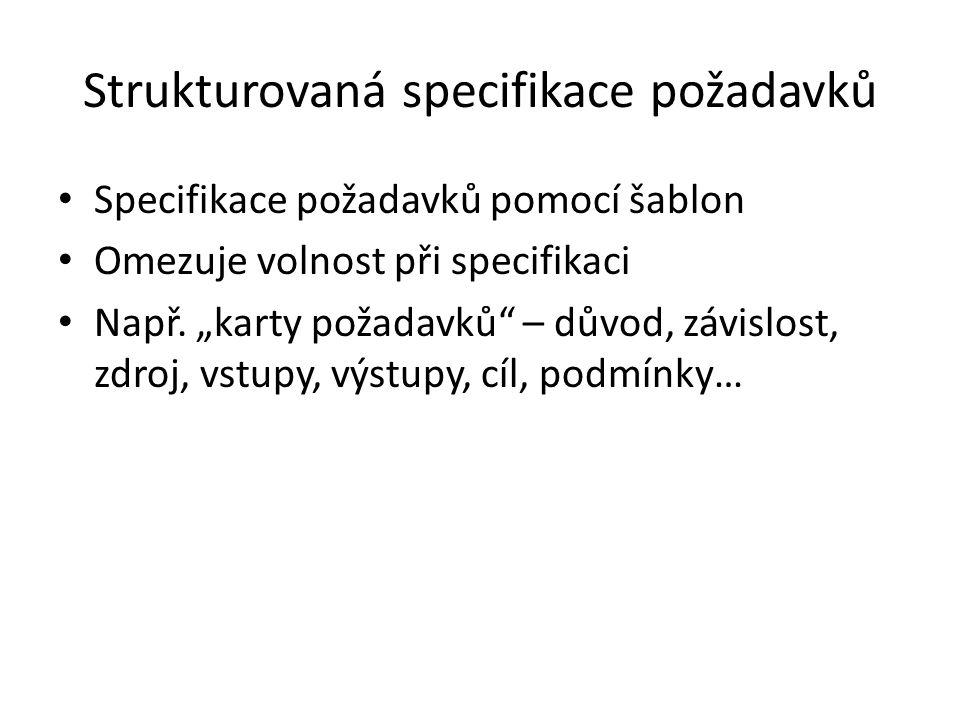 Strukturovaná specifikace požadavků