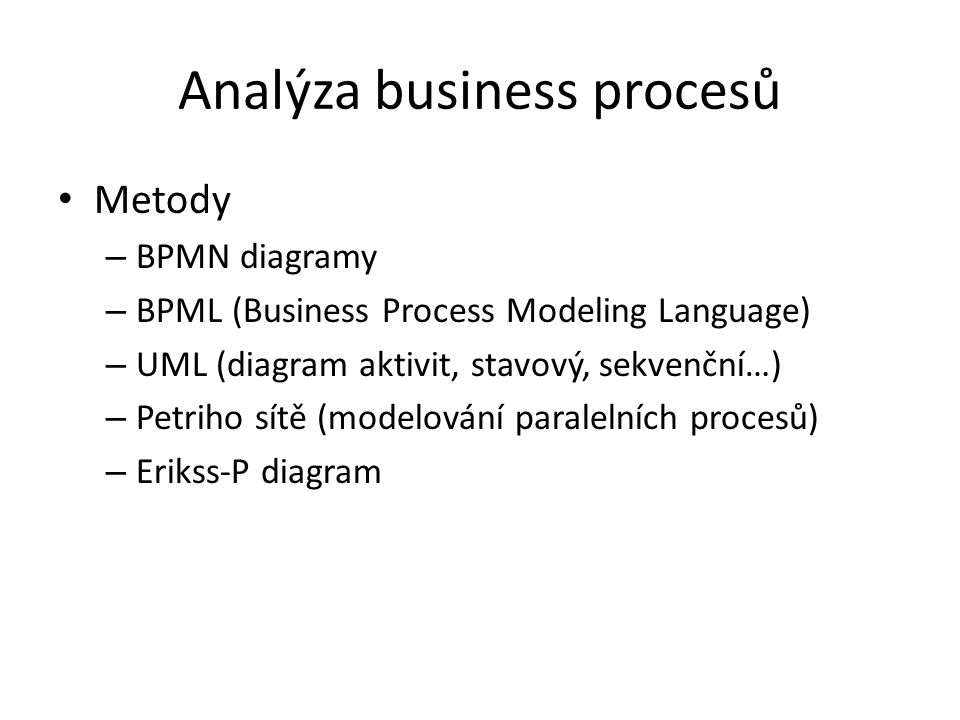 Analýza business procesů