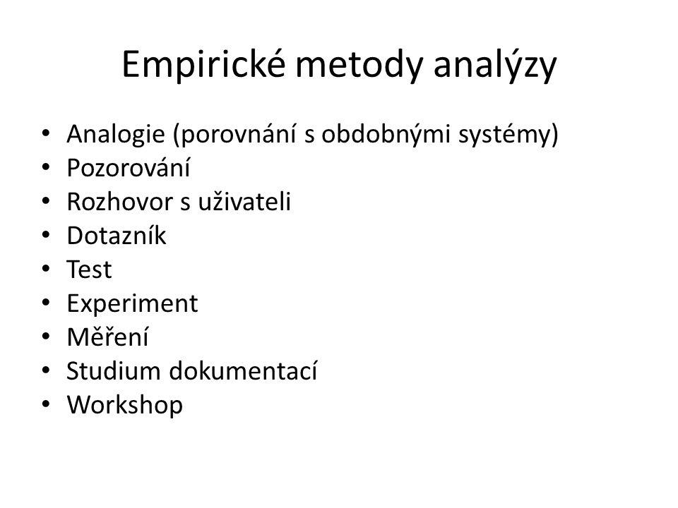 Empirické metody analýzy