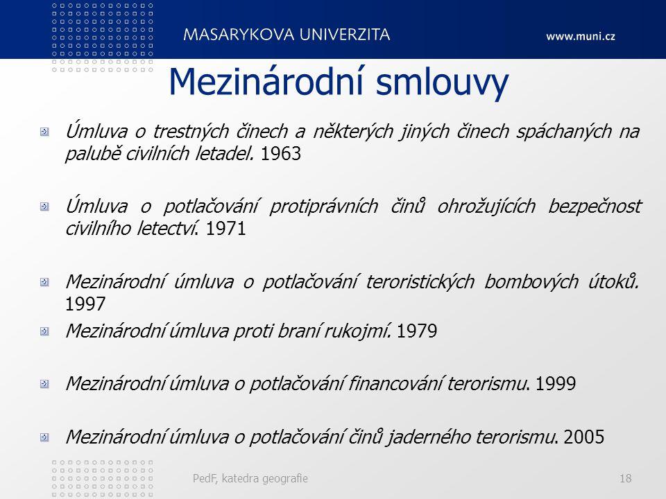 Mezinárodní smlouvy Úmluva o trestných činech a některých jiných činech spáchaných na palubě civilních letadel. 1963.