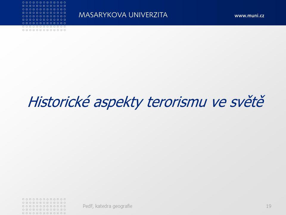 Historické aspekty terorismu ve světě