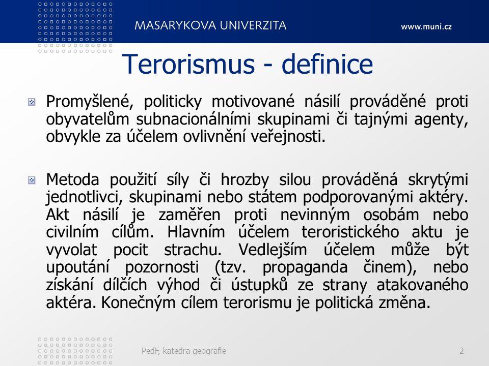 Terorismus - definice