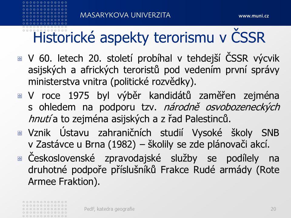 Historické aspekty terorismu v ČSSR