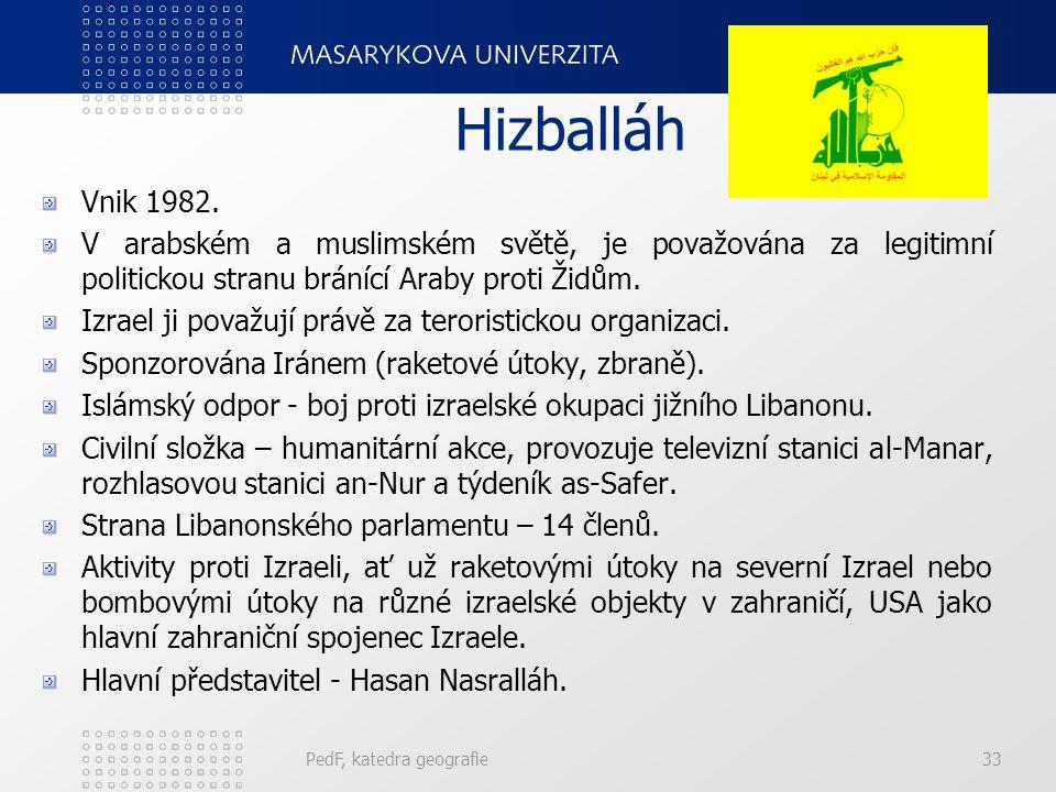 Hizballáh Vnik 1982. V arabském a muslimském světě, je považována za legitimní politickou stranu bránící Araby proti Židům.