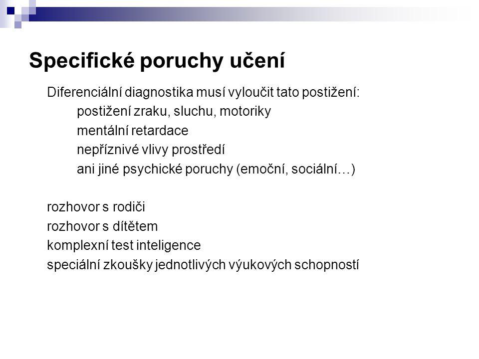 Specifické poruchy učení