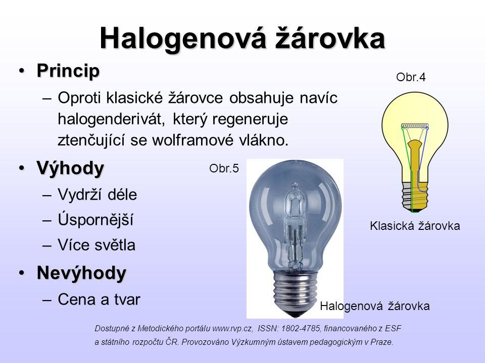 Halogenová žárovka Princip Výhody Nevýhody