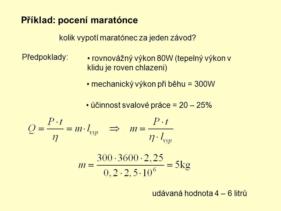 Příklad: pocení maratónce