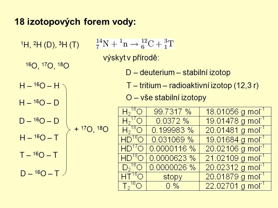 18 izotopových forem vody: