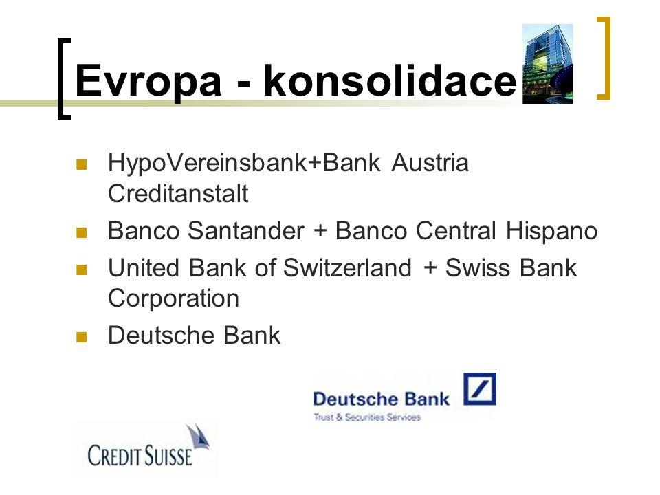 Evropa - konsolidace HypoVereinsbank+Bank Austria Creditanstalt