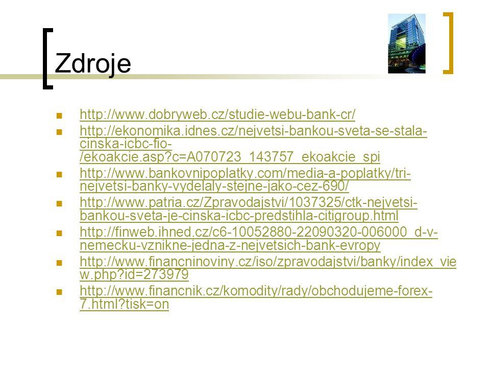 Zdroje http://www.dobryweb.cz/studie-webu-bank-cr/
