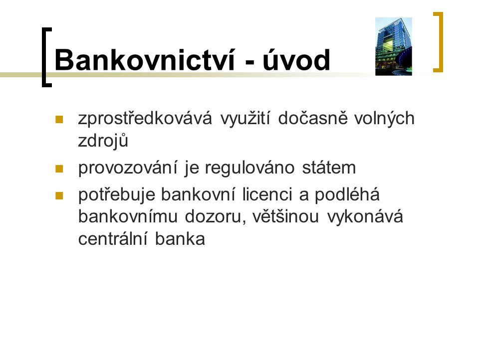 Bankovnictví - úvod zprostředkovává využití dočasně volných zdrojů