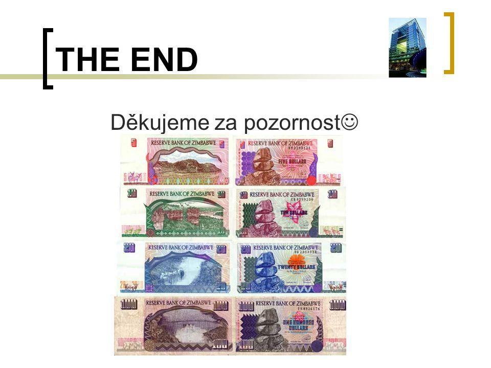 THE END Děkujeme za pozornost