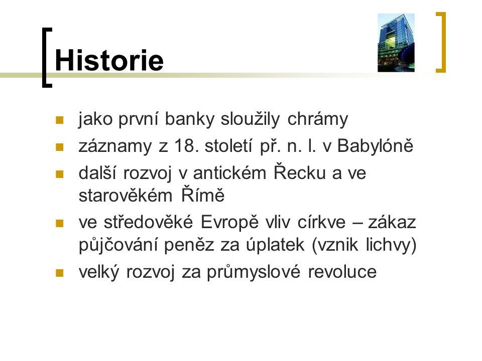 Historie jako první banky sloužily chrámy
