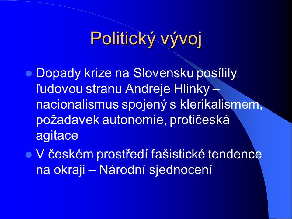 Politický vývoj