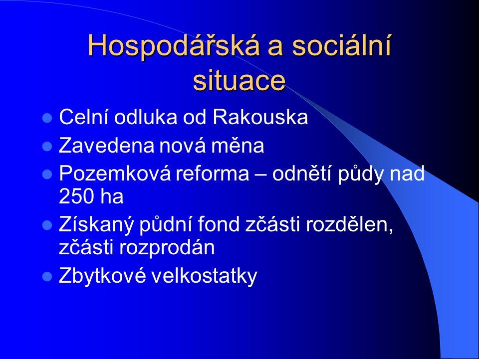 Hospodářská a sociální situace