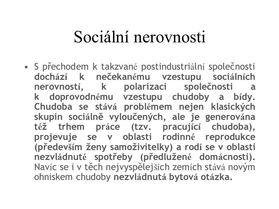 Sociální nerovnosti
