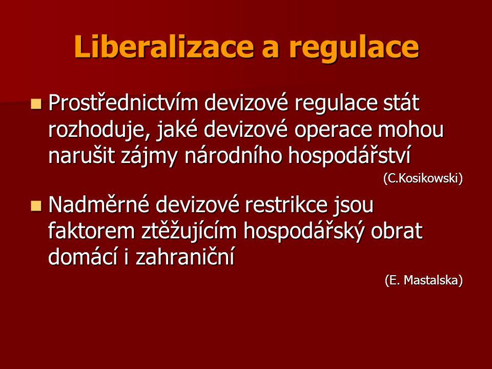 Liberalizace a regulace