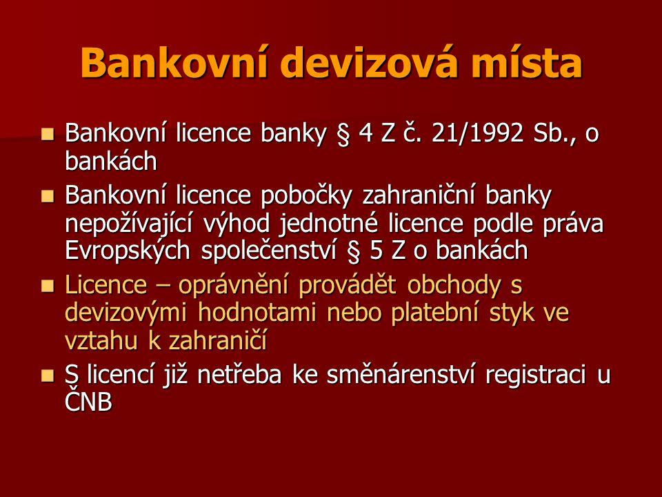 Bankovní devizová místa