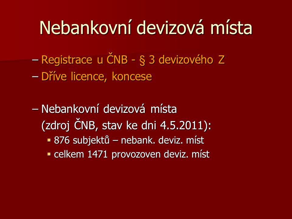 Nebankovní devizová místa