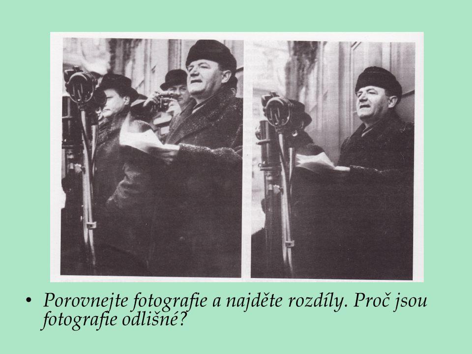 Porovnejte fotografie a najděte rozdíly. Proč jsou fotografie odlišné