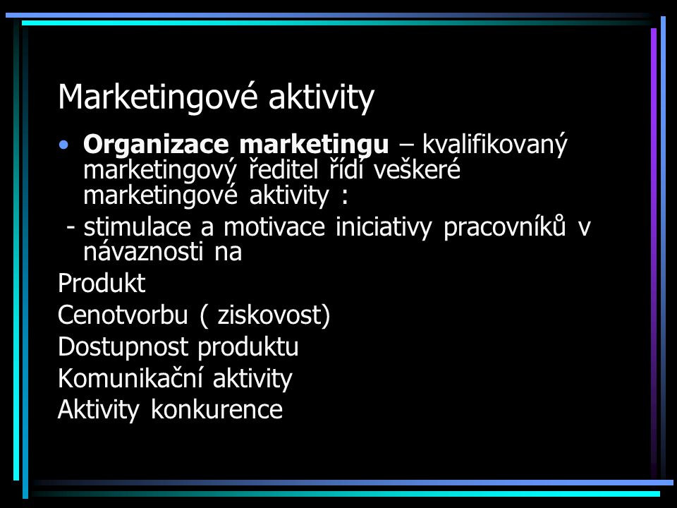 Marketingové aktivity