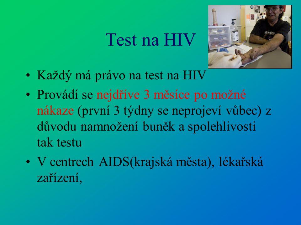Test na HIV Každý má právo na test na HIV