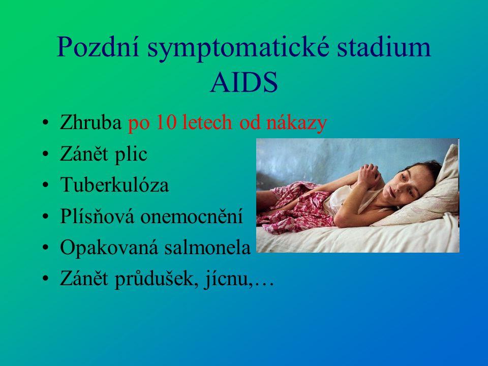 Pozdní symptomatické stadium AIDS
