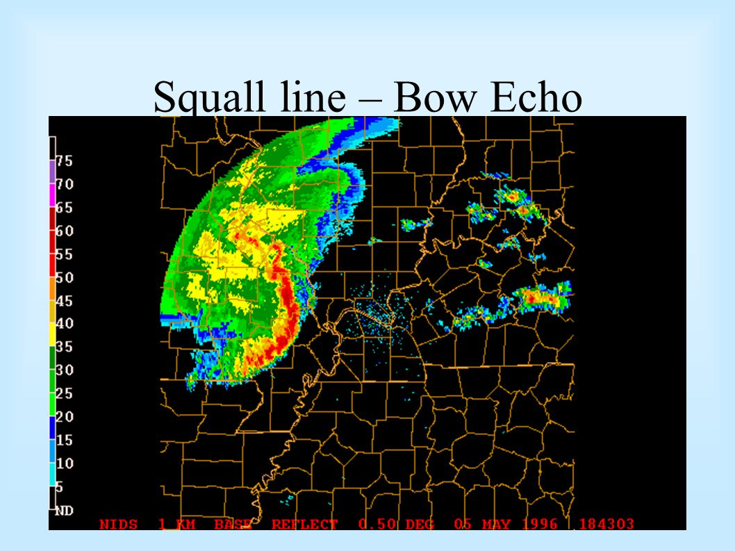 Squall line – Bow Echo