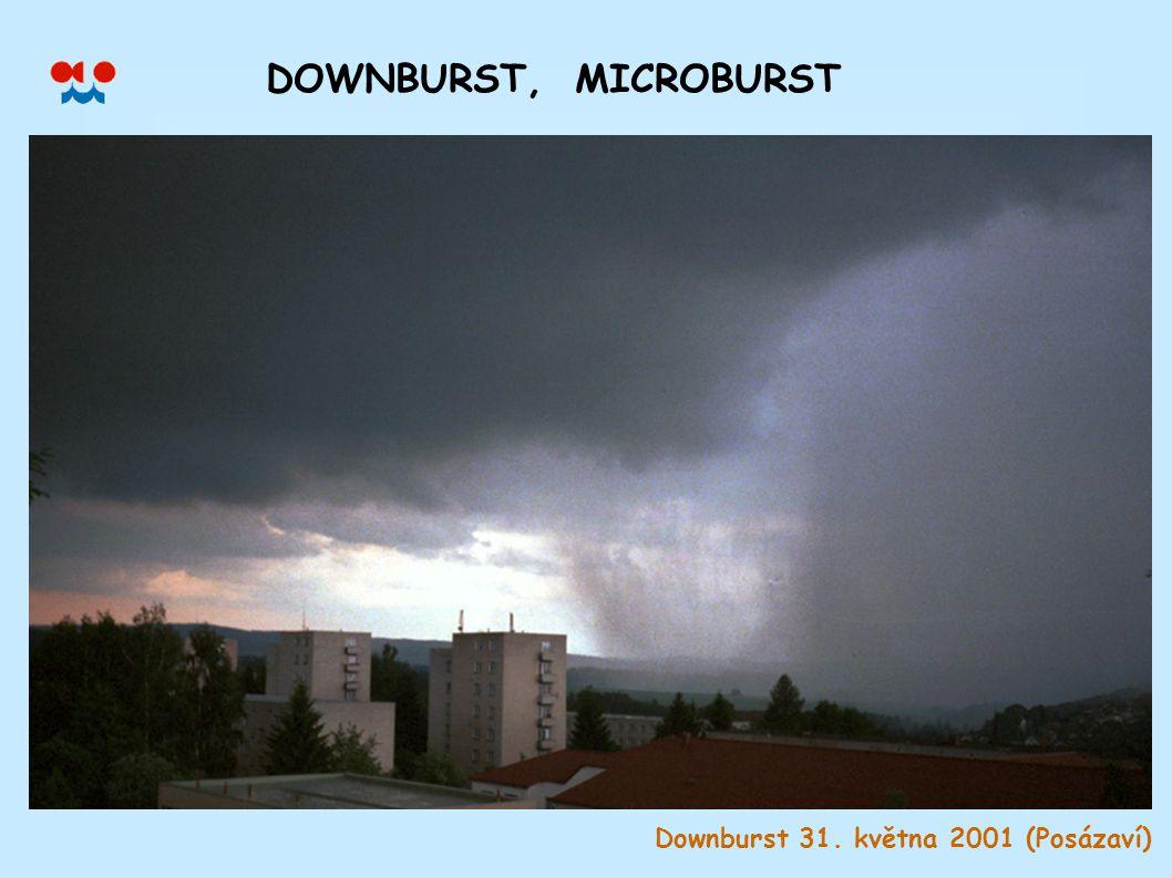 DOWNBURST, MICROBURST Downburst 31. května 2001 (Posázaví)
