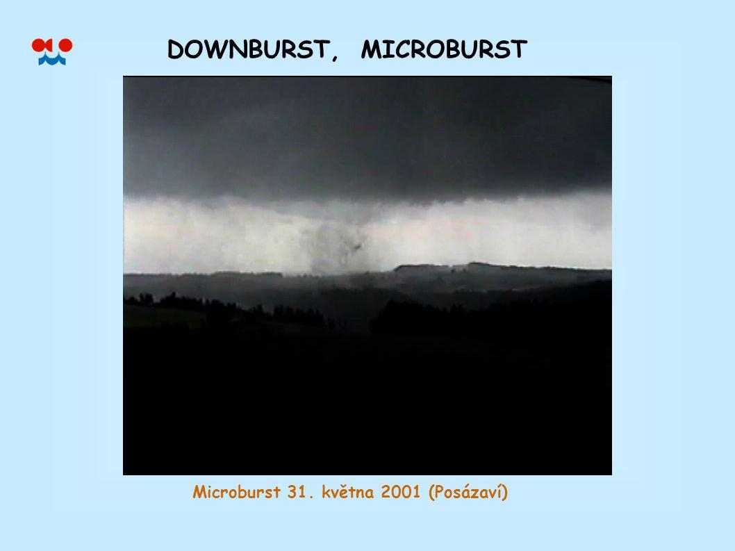 DOWNBURST, MICROBURST Microburst 31. května 2001 (Posázaví)