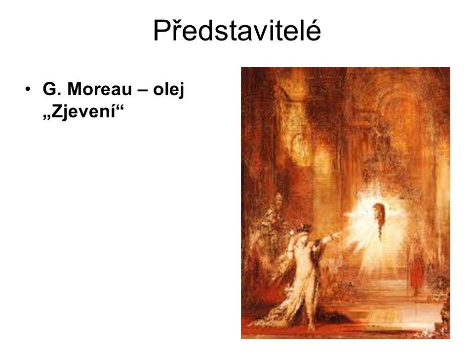 """Představitelé G. Moreau – olej """"Zjevení"""