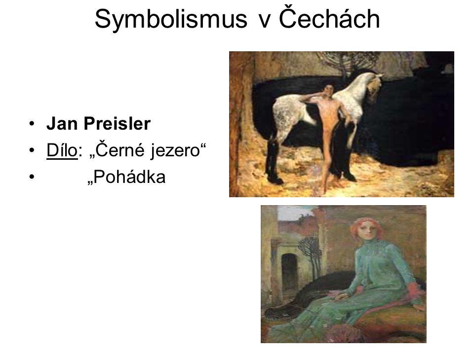 """Symbolismus v Čechách Jan Preisler Dílo: """"Černé jezero """"Pohádka"""