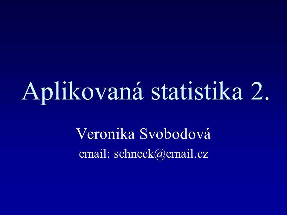 Aplikovaná statistika 2.